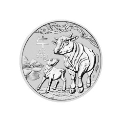 2021 $1 Australian Lunar Series III Year of the Ox 1oz Silver Bullion Coin in Capsule
