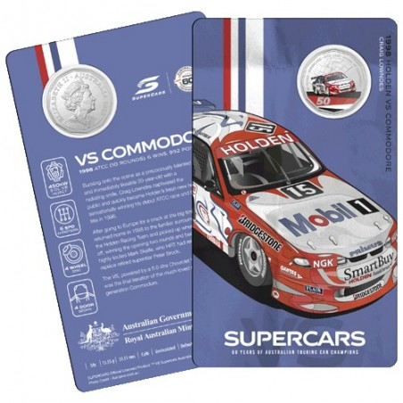 2020 50c 60 Years of the Australian Supercars 1960/2020 VS Commodore Unc Coin