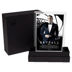 2020 007 James Bond Movie Poster 5g Silver Foil - Skyfall