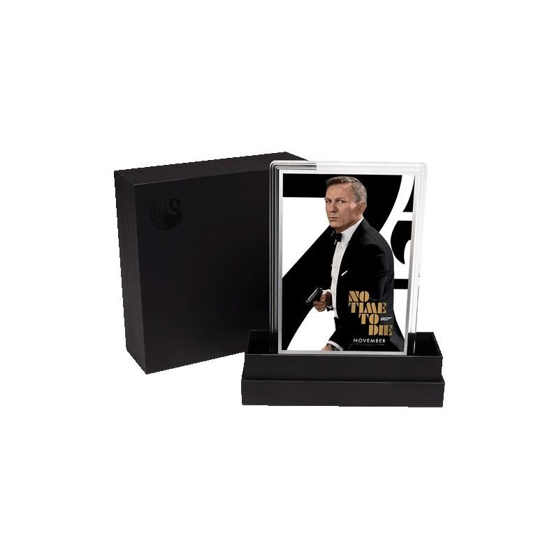 2020 007 James Bond Movie Poster 5g Silver Foil - No Time to Die