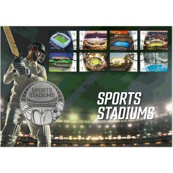 2020 Sports Stadiums Limited Edition Medallion & Stamp Cover PNC - 8 Key Venues