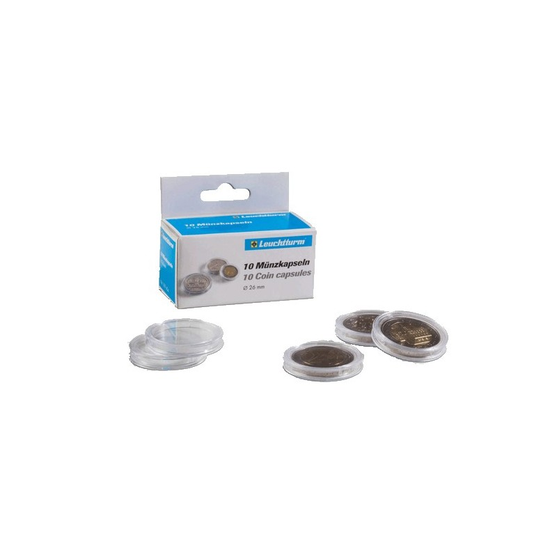 Lighthouse Coin Capsules 21mm ID - 27mm OD Pack of 10