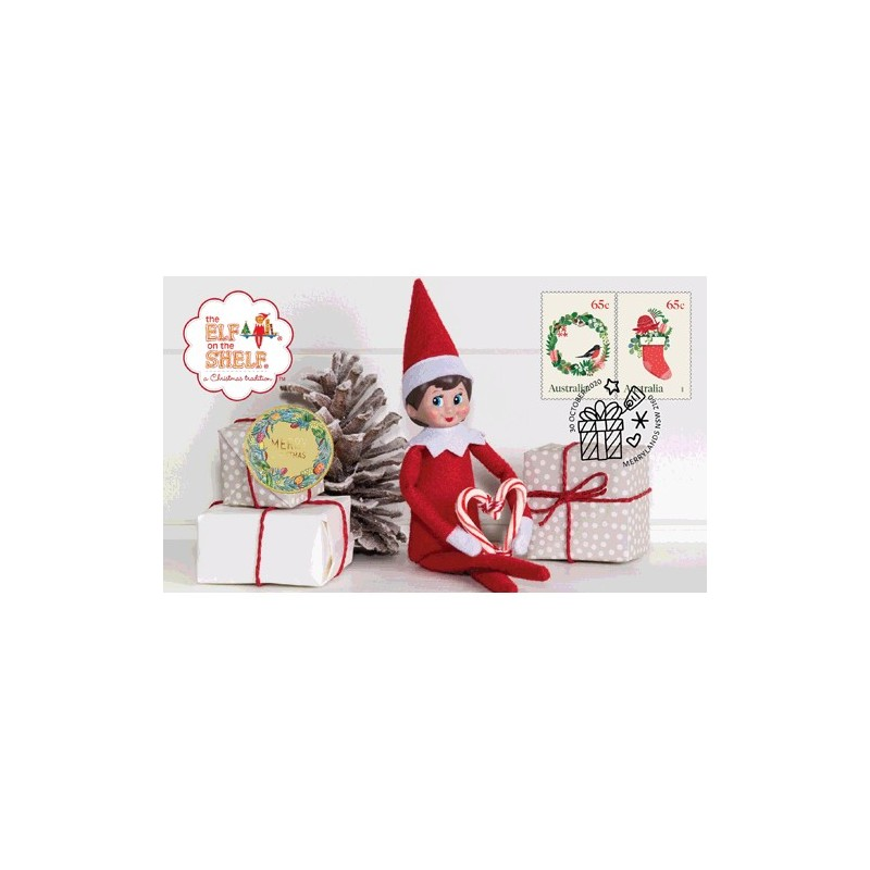 2020 $1 The Elf on the Shelf : A Christmas Tradition Coin & Stamp Cover PNC