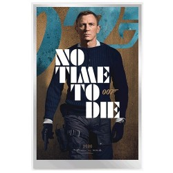 2020 007 James Bond Movie Poster 35g Silver Foil - No Time to Die