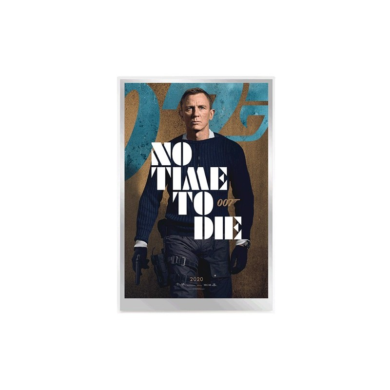 2020 007 James Bond Movie Poster 35g Silver Foil - No Time to Die
