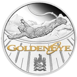 2020 $1 James Bond Goldeneye 25th Anniversary 1oz Silver Proof Coin