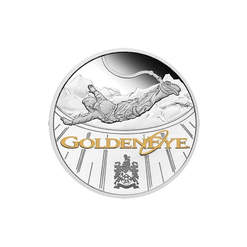 2020 $1 James Bond Goldeneye 25th Anniversary 1oz Silver Proof Coin