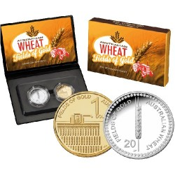 2012 Australian Wheat Two Coin Proof Set