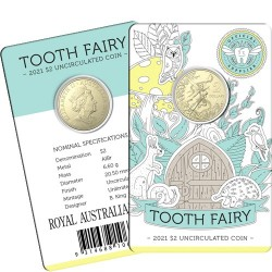 2021 $2 Tooth Fairy Albr Uncirculated Coin in Card