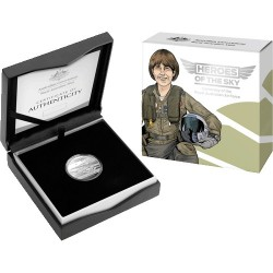 2021 $1 Heroes of the Sky - Wing Commander Robyn Williams C MIntmark Silver Proof Coin