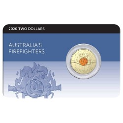 2020 $2 Australia's Firefighters  Al/Br Coloured Coin in RAM Card
