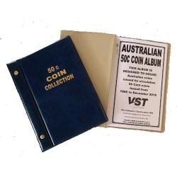 Australian Circulating 50c Coin Album Blue