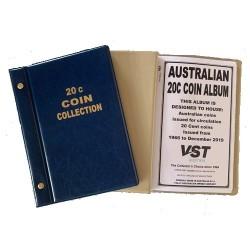 Australian Circulating 20c Coin Album Blue