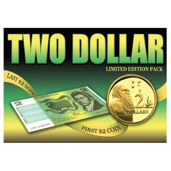 Last $2 Note & First $2 Coin Pack Uncirculated