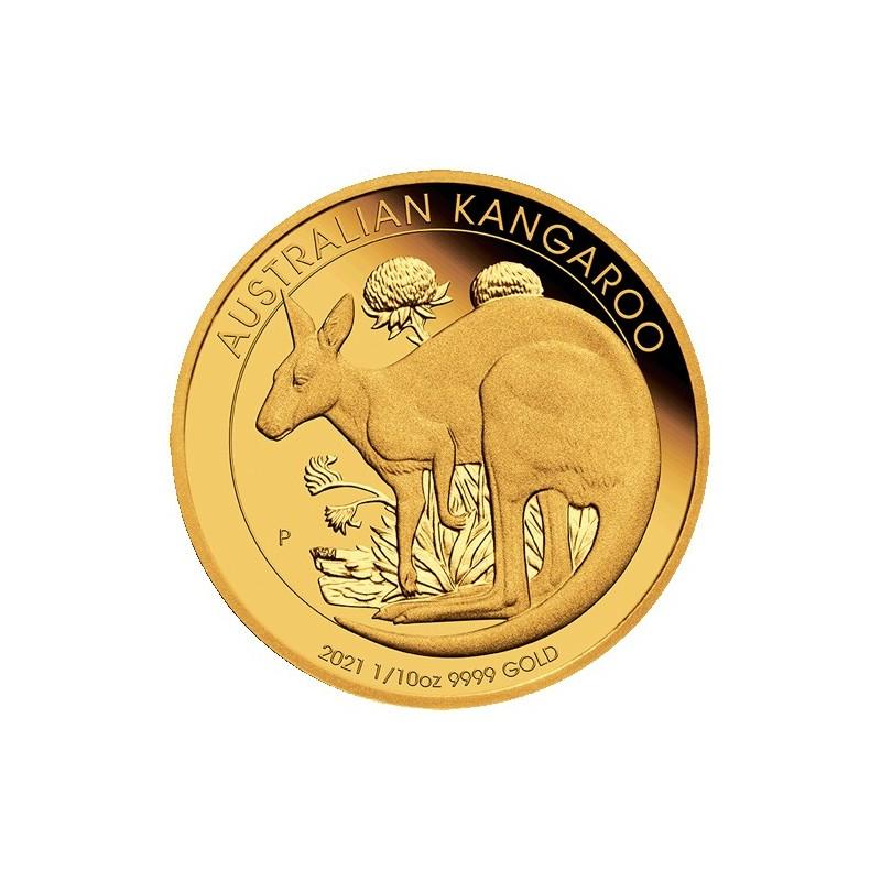 2021 $15 Australian Kangaroo 1/10oz Gold Proof Coin