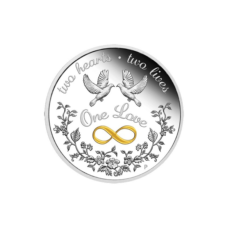 2021 $1 One Love Silver Proof 1oz Coin