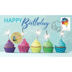 2021 $1 Happy Birthday Coin & Stamp Cover PNC