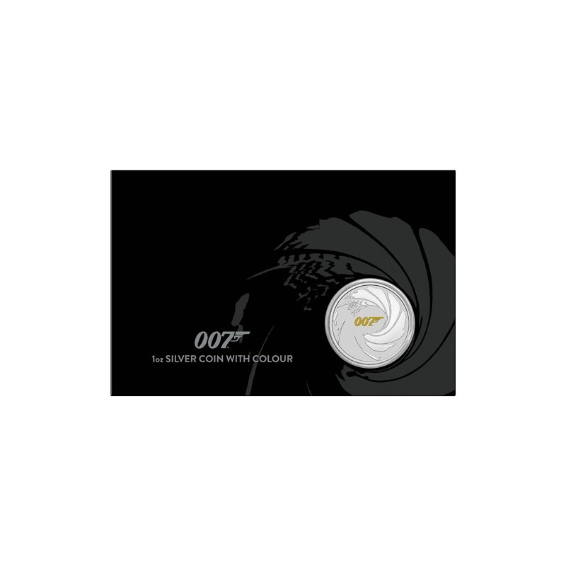 2021 $1 James Bond 007 1oz Silver Coin with Colour in Card