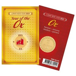 2021 Year of the Ox Medallion in Card