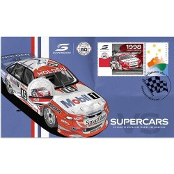 2021 50c Supercars Holden COmmodore VS 1998 Craig Lowndes Coin & Stamp Cover PNC