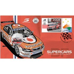 2021 50c Supercars Ford BF Falcon Coin & Stamp Cover PNC