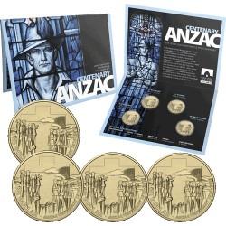 2015 $1 ANZAC Centenary 4 Coin Set CBSM