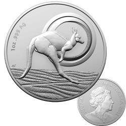 2021 $1 Kangaroo Series - Outback Majesty 1oz Silver Frosted Uncirculated Coin in Capsule