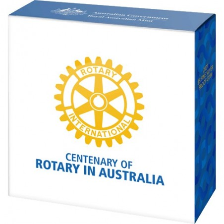 2021 $5 Centenary of Rotary Australia 1oz Silver Proof Coin