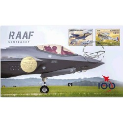 2021 $1 RAAF Centenary of the Royal Australian Air Force W/Envelope Privy Mark Coin & Stamp Cover PNC