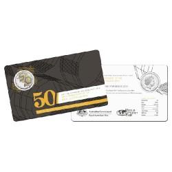 2015 $1 50th Aniversary RAM World Money Fair Unc Coin in Card