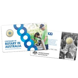 2021 $1 Centenary of Rotary Australia Al/Br Coloured Uncirculated Coin