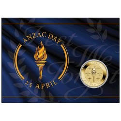 2021 $1 ANZAC Day Lest We Forget Uncirculated Coin in Card