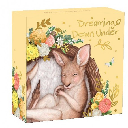 2021 50c Dreaming Down Under - Kangaroo 1/2oz Silver Proof Coloured Coin