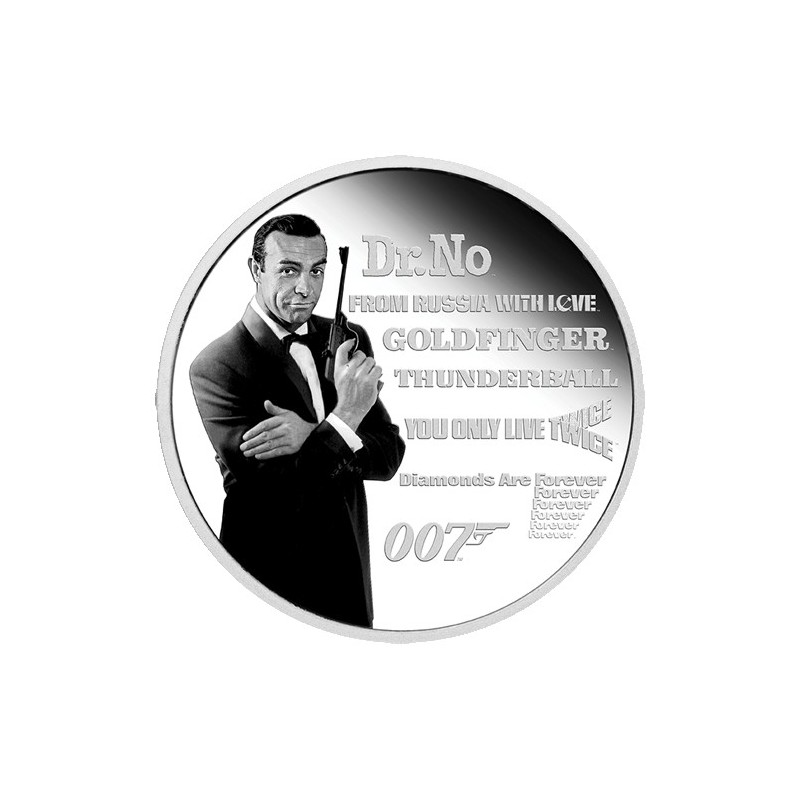 2021 $1 James Bond Legacy Series - 1st Issue 1oz Silver Proof Coloured Coin