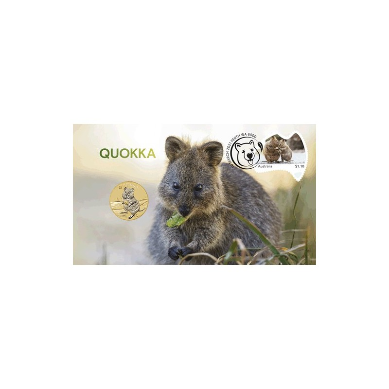 2021 $1 Quokka Coin & Stamp Cover PNC