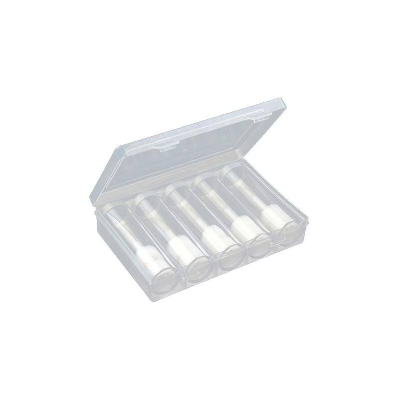 Coin Mint Roll Storage Tubes x 5 with Storage Box