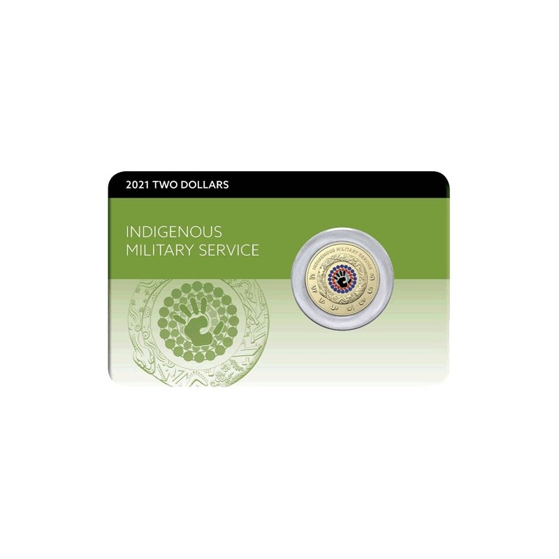 2021 $2 Indigenous Service  Al/Br  Coloured Coin Pack