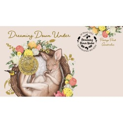 2021 $1 Dreaming Down Under - Kangaroo Coin & Stamp Cover PNC