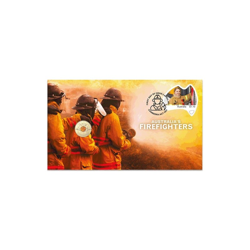 2021 $2 Australia's Firefighters Coin & Stamp Cover PNC