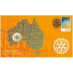 2021 $1 Centenary of Rotary in Australia 1921 - 2021 Coin & Stamp Cover PNC