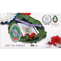 2021 Lest We Forget ANZAC Day Medallion & Stamp Cover PNC