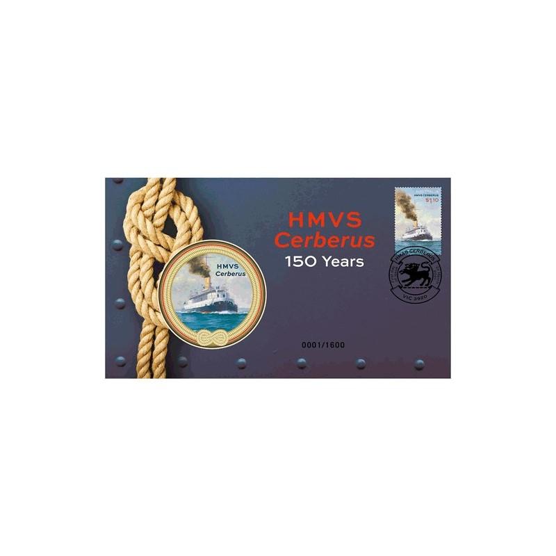 2021 HMVS Cerberus 150 Years Medallion & Stamp Cover PNC