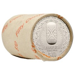 2014 50c 50th Anniversary AIATSIS Non-Coloured Mint Roll (20 Coins)