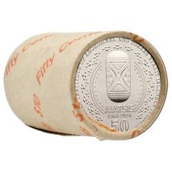 2014 50c 50th Anniversary AIATSIS Non-Coloured Mint Roll (20 Coins)