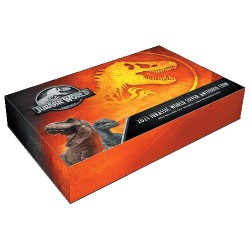 2021 $5 Jurassic World 2oz Silver Antiqued T.Rex Shaped Coin