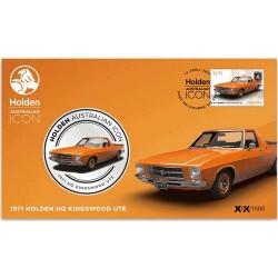 2021 Holden Australian Icon 1971 Holden HQ Kingswood Ute Medallion & Stamp Cover PNC