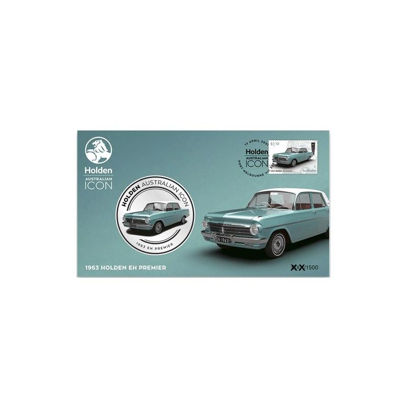 2021 Holden Australian Icon 1963 Holden EH Premier Medallion & Stamp Cover PNC