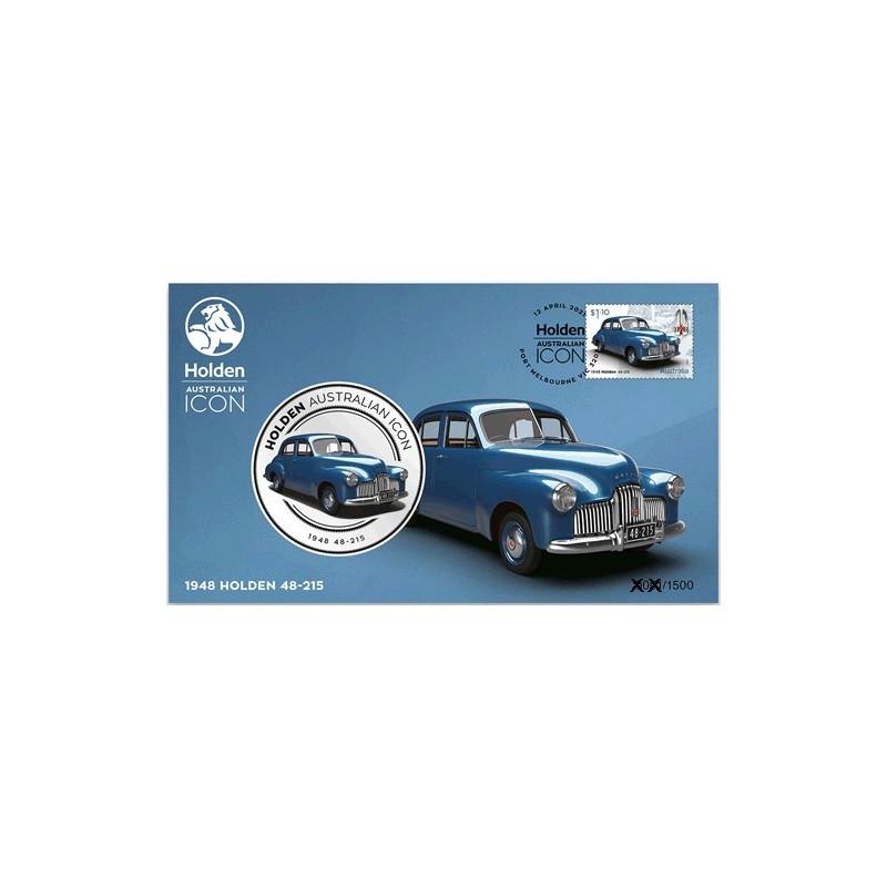 2021 Holden Australian Icon 1948 Holden 48-215 Medallion & Stamp Cover PNC