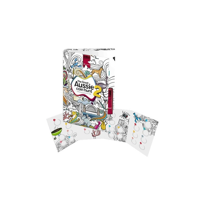 2021 The Great Aussie Coin Hunt 2 Folder ( No Coins)