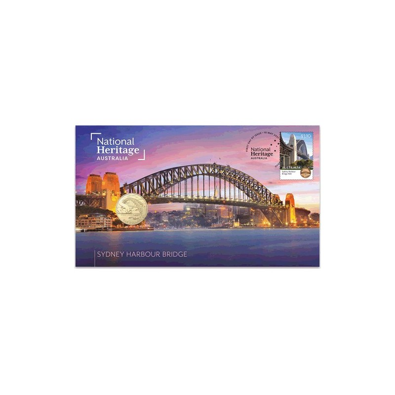 2021 $1 National Heritage Australia - Sydney Harbour Bridge Coin & Stamp Cover PNC